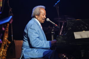 Allen Toussaint performs during The Musical Mojo of Dr. John: A Celebration of Mac & His Music at the Saenger Theatre on May 3, 2014 in New Orleans, Louisiana.