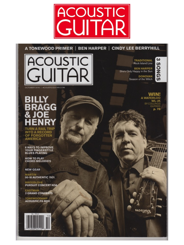 Billy Bragg and Joe Henry on Acoustic Guitar cover