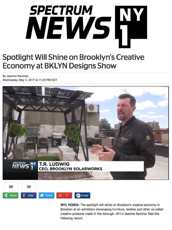 Brooklyn SolarWorks on NY1