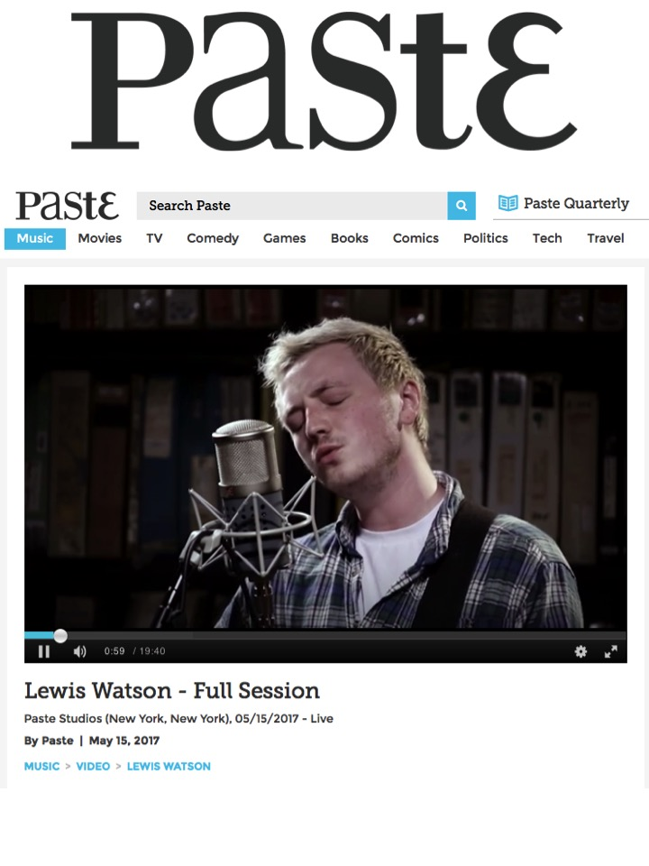 Lewis Watson on Paste