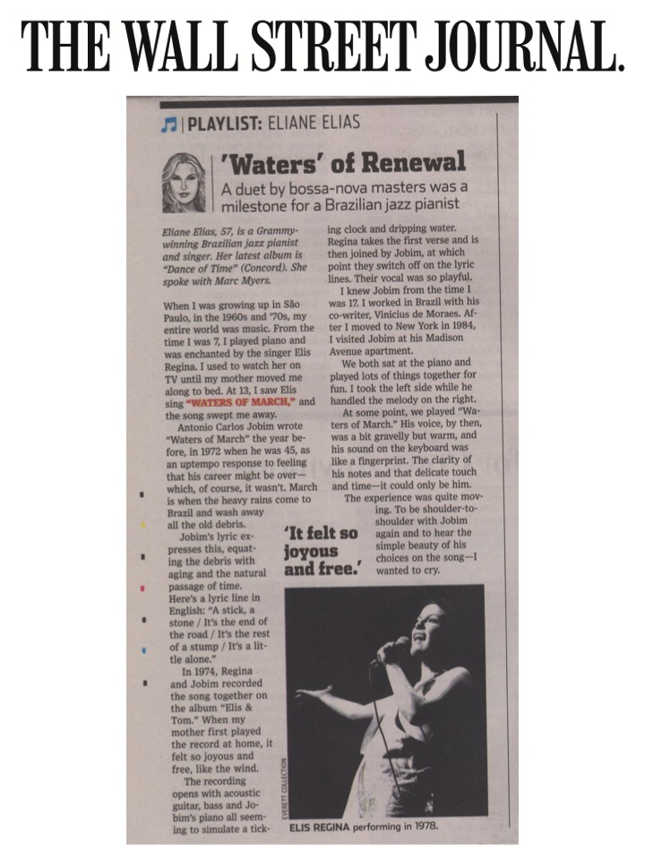 Eliane Elias in The Wall Street Journal