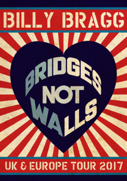Billy Bragg Bridges Not Walls Art
