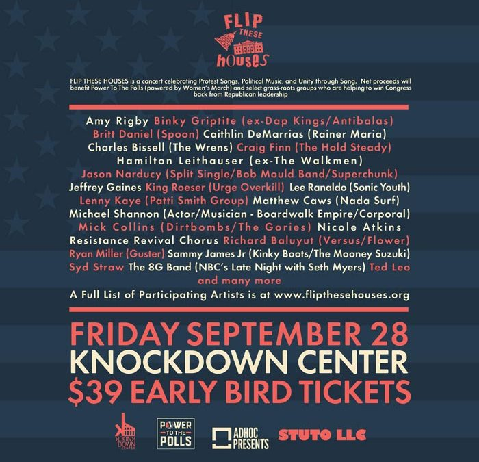 2 Weeks Until Members of Spoon, Nada Surf, More Perform at 'Flip These Houses' Benefit Concert