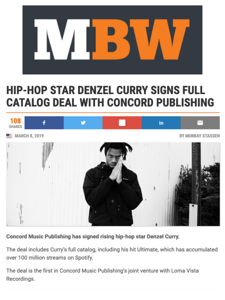 Concord Publishing in MBW