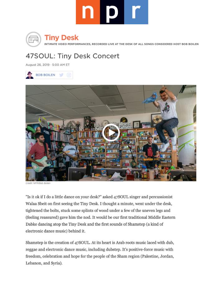 47SOUL Tiny Desk Concert