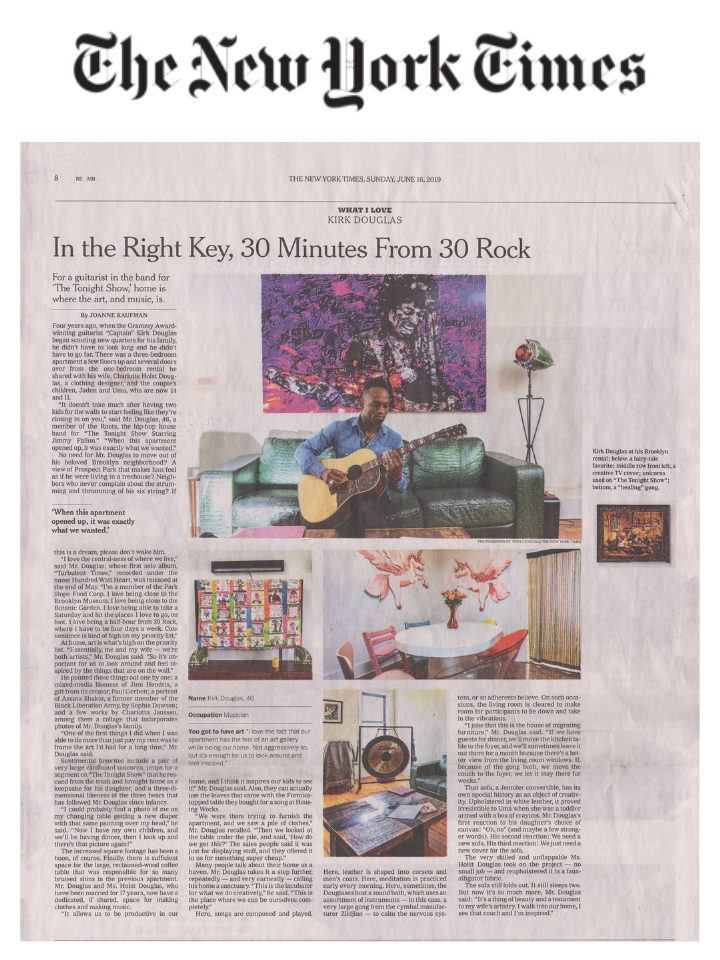 Kirk Douglas in NYT